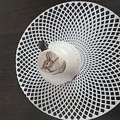 Посуда ручной работы. Ярмарка Мастеров - ручная работа Кролики и тюльпаны. Handmade.
