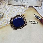Украшения handmade. Livemaster - original item Brooch-pendant of lapis lazuli