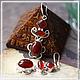 """Серьги ручной работы. Ярмарка Мастеров - ручная работа. Купить серьги в серебре 925 пр. """"Карнавал"""". Handmade. Бордовый"""