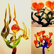 Цветы и флористика ручной работы. Ярмарка Мастеров - ручная работа Стеклянный мобиль для цветов и прочих растений. Handmade.