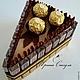 Подарки для мужчин, ручной работы. Заказать Кусочек тортика из конфет Merci подарок для мужчины. Ирина Сакула (Iriska-choko). Ярмарка Мастеров.