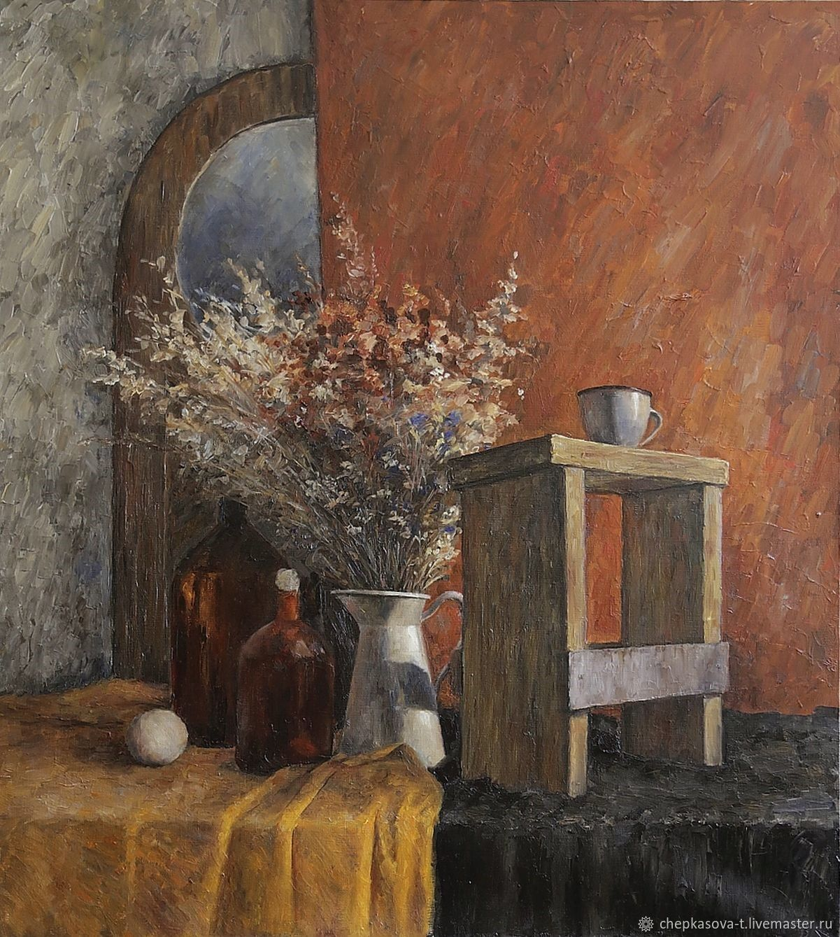 At the old country house. Oil on canvas. 100h90 cm, Pictures, Moscow,  Фото №1