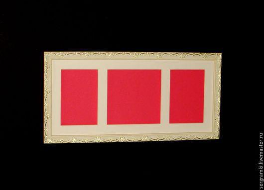 Фоторамки ручной работы. Ярмарка Мастеров - ручная работа. Купить Рамка со стеклом для слепков.. Handmade. Белый, рамки, рамка