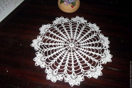Текстиль, ковры ручной работы. Ярмарка Мастеров - ручная работа. Купить Салфетка вязаная крючком. Handmade. Белый, салфетка кружевная