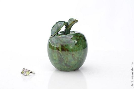 Элементы интерьера ручной работы. Ярмарка Мастеров - ручная работа. Купить Керамическое яблоко Малахит. Handmade. Керамическое яблоко