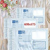 Конверт-пакет почтовый 600х675, пластиковый