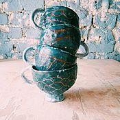 """Посуда ручной работы. Ярмарка Мастеров - ручная работа Кружки """"старый прибрежный город"""". Handmade."""