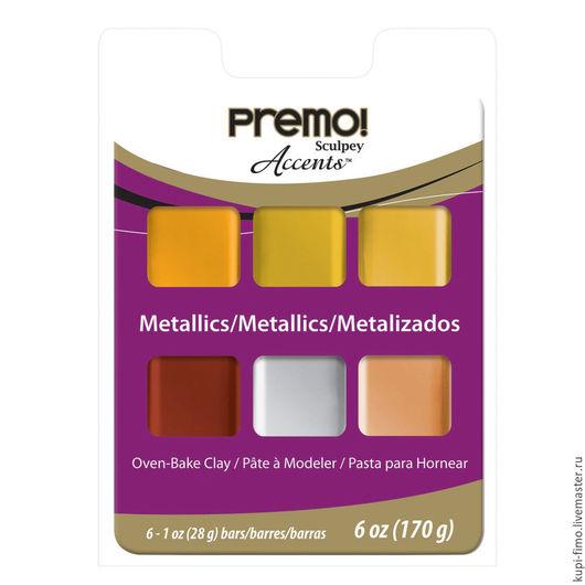 Для украшений ручной работы. Ярмарка Мастеров - ручная работа. Купить Набор Sculpey Premo 6 Color Sampler Pack Metallic. Handmade.
