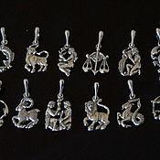 Материалы для творчества handmade. Livemaster - original item Charms signs of the zodiac - cupronickel with silver 925. Handmade.