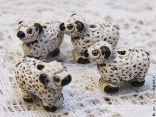 Для украшений ручной работы. Ярмарка Мастеров - ручная работа. Купить Бусина Овечка керамическая 15х12х8мм (1шт). Handmade.