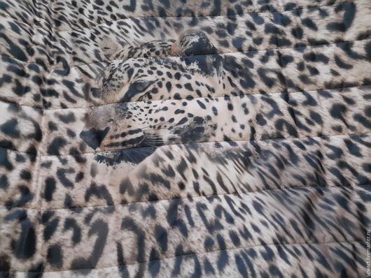 Шитье ручной работы. Ярмарка Мастеров - ручная работа. Купить Красивая стеганная ткань с утеплителем премиум-класса (леопард). Handmade.