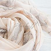 Аксессуары handmade. Livemaster - original item Tippet chiffon explanation Chanel Rose beige. Handmade.