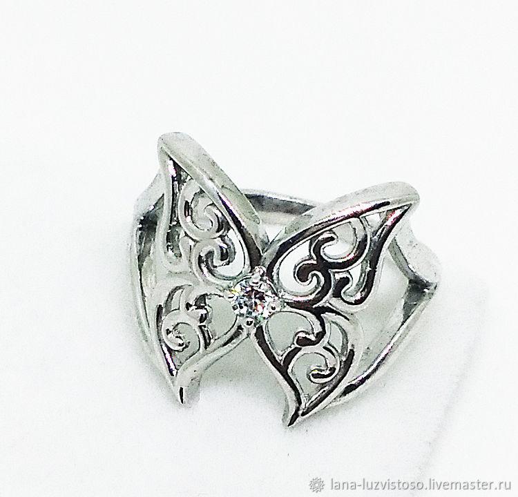 Серебряное кольцо Бабочка (серебро 925 пробы), Кольца, Симферополь,  Фото №1
