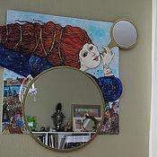 """Для дома и интерьера ручной работы. Ярмарка Мастеров - ручная работа Зеркало """"Над городом"""". Handmade."""