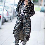 handmade. Livemaster - original item Autumn-spring camouflage boho hooded cardigan-VE0028W. Handmade.