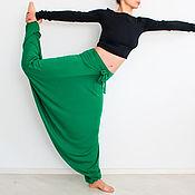Одежда ручной работы. Ярмарка Мастеров - ручная работа Брюки больших размеров, широкие брюки, йога одежда. Handmade.