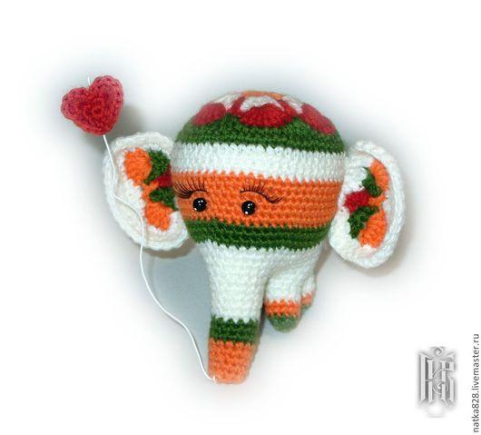 Куклы и игрушки ручной работы. Ярмарка Мастеров - ручная работа. Купить Африканский слоник. Handmade. Вязаный слоник, слон, амигуруми