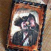 handmade. Livemaster - original item Passport cover is an Old pirate. Handmade.