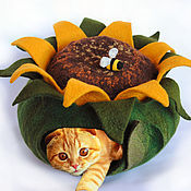 Для домашних животных, ручной работы. Ярмарка Мастеров - ручная работа Подсолнух. Кошкин дом-нора.. Handmade.