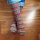 Носки, Чулки ручной работы. Носки вязаные Christmas. Pentu ручное вязание. Ярмарка Мастеров. Носки шерстяные, носки мужские