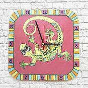 Для дома и интерьера handmade. Livemaster - original item Watch baby Lizard wall clock handmade. Handmade.