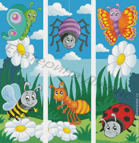Детский триптих - авторская схема для вышивки крестом. Цена - 500 рублей. Цена одной части - 170 руб.