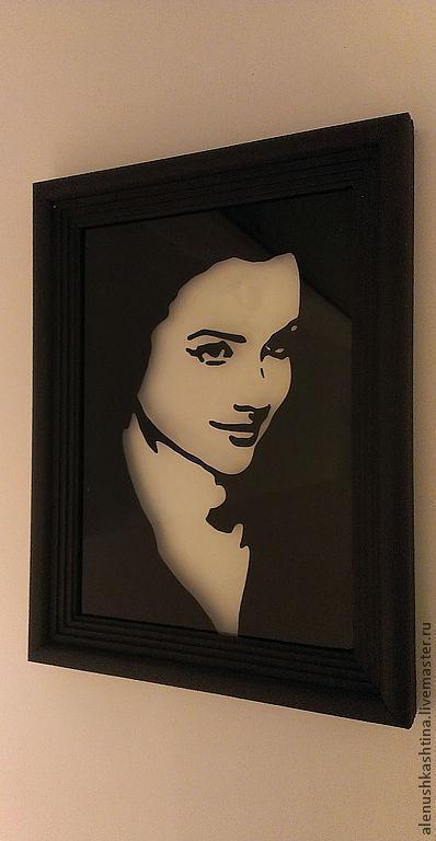 """Фотокартины ручной работы. Ярмарка Мастеров - ручная работа. Купить Рамка """"Дарья"""". Handmade. Чёрно-белый, черный, портрет"""