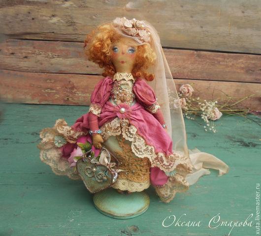 Коллекционные куклы ручной работы. Ярмарка Мастеров - ручная работа. Купить Шёпот сердца моего.... Handmade. Фуксия, шебби шик