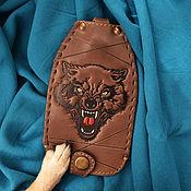 """Сумки и аксессуары handmade. Livemaster - original item Leather key case """"BEAST OF PREY"""". Handmade."""