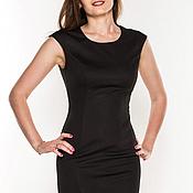 Одежда ручной работы. Ярмарка Мастеров - ручная работа Черное платье футляр. Handmade.
