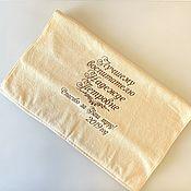 Для дома и интерьера handmade. Livemaster - original item Terry towel with embroidery. Handmade.