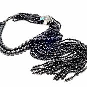 Украшения handmade. Livemaster - original item Necklace with black agate and onyx. Handmade.