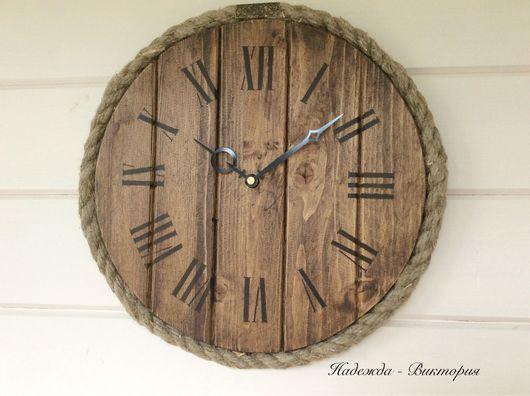 """Часы для дома ручной работы. Ярмарка Мастеров - ручная работа. Купить Часы  настенные """"Боцман"""" из серии """"Мореный дуб"""". Handmade."""