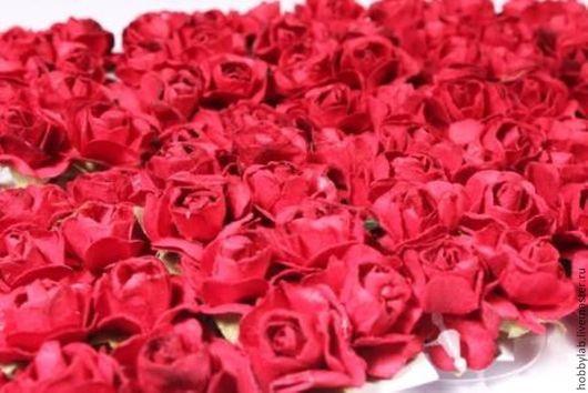Открытки и скрапбукинг ручной работы. Ярмарка Мастеров - ручная работа. Купить Розочки 15 мм в ассортименте. Handmade. Розы, розочки