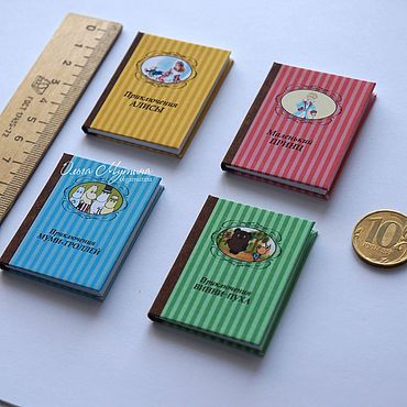 Dolls & toys handmade. Livemaster - original item Mini-books with quotes 1:4. Handmade.