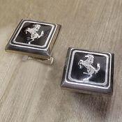 Украшения handmade. Livemaster - original item Silver Cufflinks Ferrari. Handmade.
