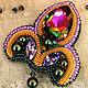 """Броши ручной работы. Ярмарка Мастеров - ручная работа. Купить Брошь """"Лилия"""" с крупным кристаллом Swarovski. Handmade. Лилия"""