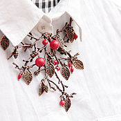 """Украшения ручной работы. Ярмарка Мастеров - ручная работа Колье """"Красная ягода"""". Handmade."""