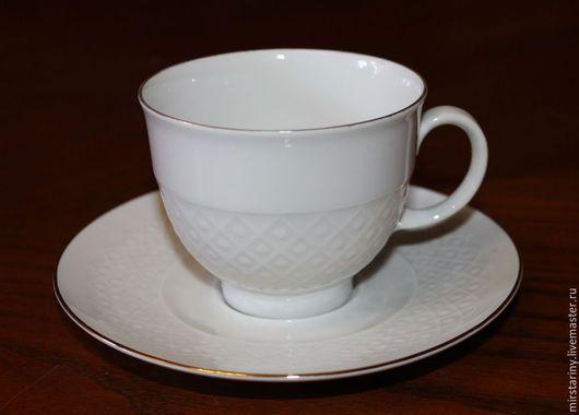 Винтажная посуда. Ярмарка Мастеров - ручная работа. Купить Фарфоровая чайная пара белого цвета, Seltmann Weiden, Германия. Handmade.