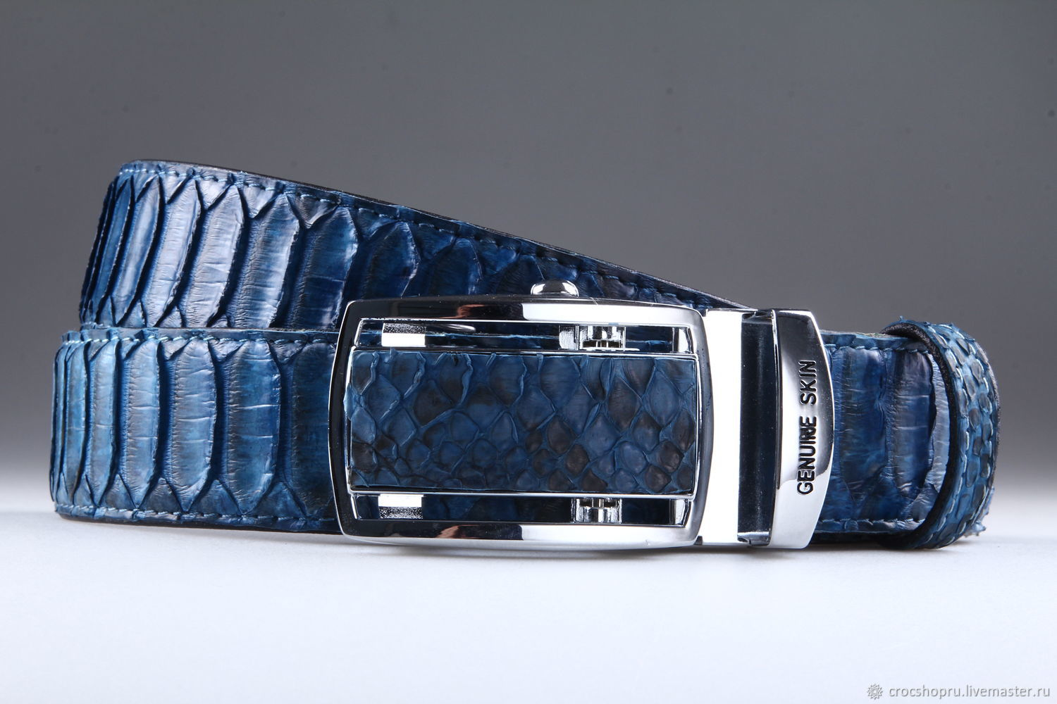 Python leather belt, artistic patina IMP3001C, Straps, Moscow,  Фото №1