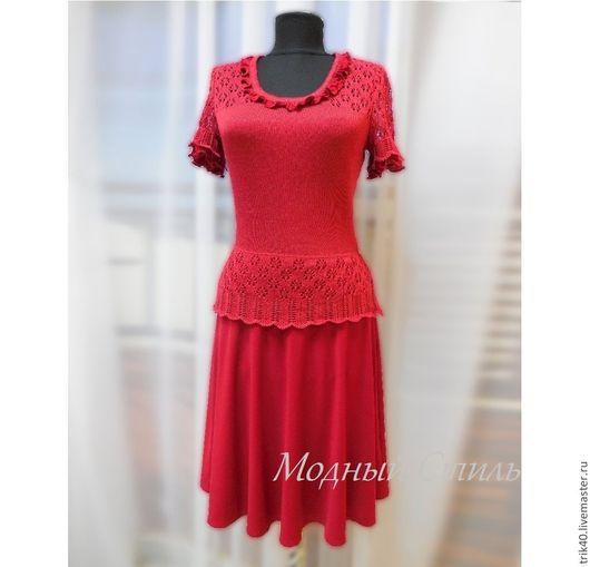 """Платья ручной работы. Ярмарка Мастеров - ручная работа. Купить Платье """"Лолита"""". Handmade. Ярко-красный, вискоза, трикотаж"""