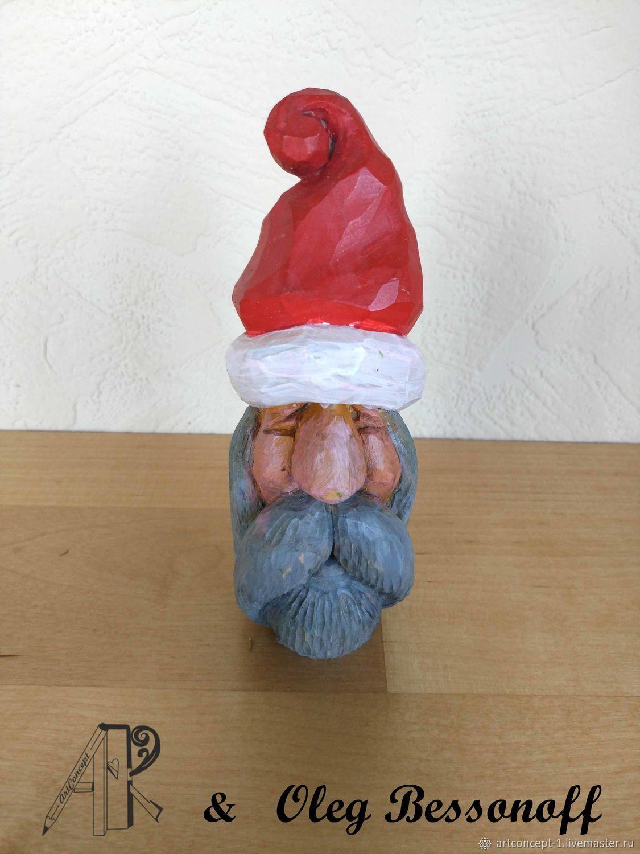 Christmas tree toy wood carved figurine miniature Santa, Miniature figurines, Ryazan,  Фото №1