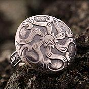 """Украшения ручной работы. Ярмарка Мастеров - ручная работа """"Модерн"""" серебряное кольцо. Handmade."""