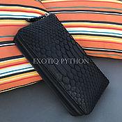 Сумки и аксессуары handmade. Livemaster - original item Black wallet leather Python. Handmade.