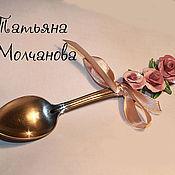 """Посуда ручной работы. Ярмарка Мастеров - ручная работа Ложка чайная """"Розовый букет"""". Handmade."""