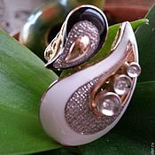 Rings handmade. Livemaster - original item Harmony. Gold ring with diamonds and enamel. Handmade.