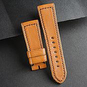 Украшения handmade. Livemaster - original item Calf leather watchband (57). Handmade.