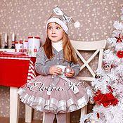 Одежда детская handmade. Livemaster - original item Elegant skirt for girls with satin and brocade ribbon trim. Handmade.