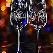 """Свадебный салон ручной работы. Ярмарка Мастеров - ручная работа Свадебные бокалы """"Ali"""". Handmade."""