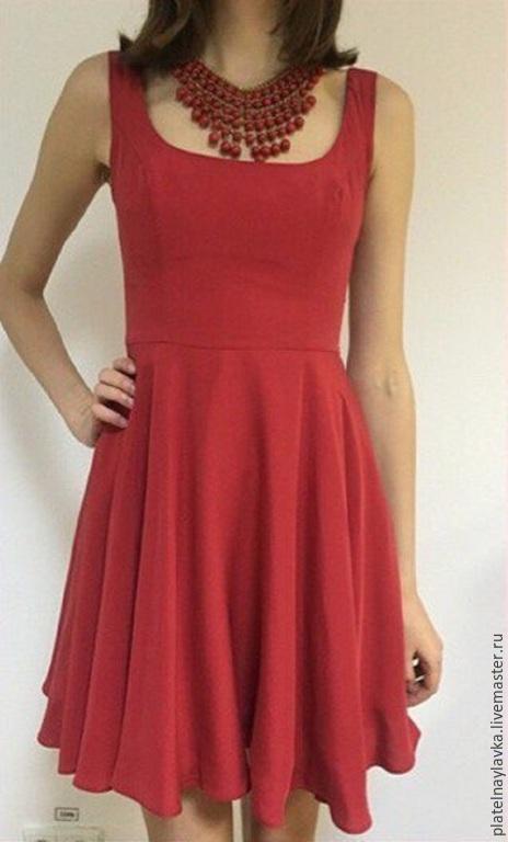 """Платья ручной работы. Ярмарка Мастеров - ручная работа. Купить платье """"Валенсия"""". Handmade. Ярко-красный, платье красное"""